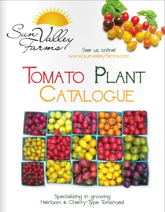 The front page of the Tomato Plant Catalogue